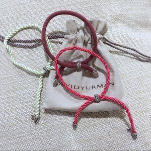 Three David Yurman Adjustable Cord Bracelets